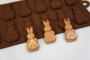 Bunny Butts Rabbit Silicone Bakeware Mould Chocolate Cookie Candy Soap Wax Resin