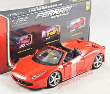 NEW 1/24 Bburago 18-26017 Ferrari 458 Spider