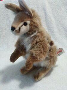 "Hansa Plush MACROPUS rare HTF with tags 2004 12"" tall stuffed plush toy"