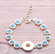 fashion DIY stone Bracelet Bangle Fit 18mm Chunk Snap Button j4778