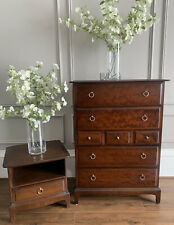 Stag Minstrel Tall boy Chest Of Drawers & Bedside Table
