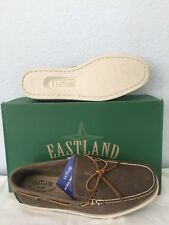 "NIB MEN EASTLAND BOAT SHOES/FOOTWEAR ""YARMOUTH"" SIZE 10.5 M COLOR: PEANUT(BROWN)"
