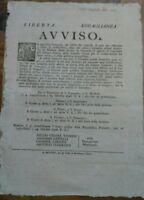 1796 MODENA, PROCLAMA MILITARE REPUBBLICA FRANCESE SU CENTURIE DI VOLONTARI