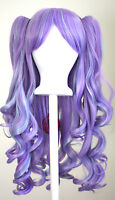 20'' Lolita Wig + 2 Pig Tails Set Mint Green and Lavender Purple Gothic Sweet