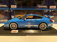 Porsche 911 GT3 RS 4.0 - Blue 1/18 Scale Maisto Special Edition. New In The Box