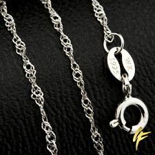 Marken-SINGAPUR-Kette 925 Silberkette Schmuck Massiv Damen Diamantiert 40-45 cm