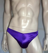 MEN'S Sexy SATIN BACKLESS PURPLE JOCK (ONE SIZE FITS MOST)