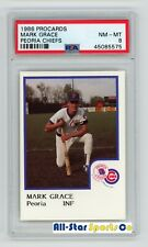 MARK GRACE 1986 PROCARDS PEORIA CHIEFS MILB 1ST CARD PSA 8 NEAR MINT to MINT RC