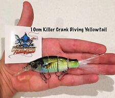 """Killer Crank"" 10cm Diving Yellowtail Swimbait Fishing Lure  25g Kingfish"