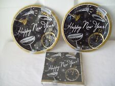 """New Years Party 7"""" (16)Plates and (16)Napkins Pk Combo Included"""