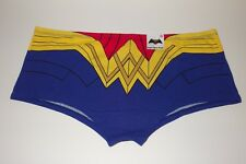 New DC Wonder Woman Red*Blue & Gold Icon Belt Print Boyshorts Panties Large 7