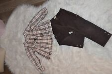 Girls Burberry Set of Blouse and Pants 4T