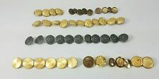 Vintage Lot 49  Metal Buttons - Gold & Silver Eagle Bugle Lions Sewing-Craft Z3