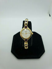 ladies limit gold tone dress watch crystal set bracelet,mother of pearl face.b1.