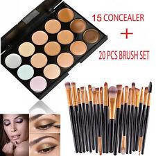15 Colors Contour Face Cream Makeup Concealer Palette Professional + 20 BRUSH OK