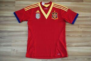 SPAIN NATIONAL TEAM HOME FOOTBALL SHIRT 2013-2014 JERSEY 15-16 YEARS XL 176 cm