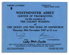 Queen Elizabeth II Golden Wedding Anniversary Ticket