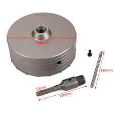 150mm Wall Hole Saw Carbide Tip Drill Bit 110mm Shaft Square Shank Set for Brick
