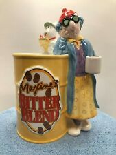 Hallmark Maxine's Bitter Blend Coffee Porcelain Coin Bank With Her Dog Floyd