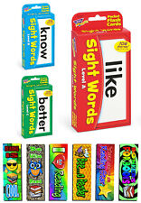 Sight Words Flash Cards Set - 168 Cards + 6 Free Childrens Bookmarks