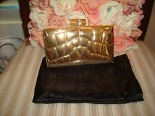 AUTHENTIC YVES SAINT LAURENT EMBOSSED LEATHER CLUTCH HANDBAG