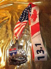 Detroit Half Marathon 13.1 miles Race Running Finisher Medal Ford Mustang