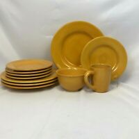 ODD LOT 11 PIECES TABLETOPS UNLIMITED CORSICA BUTTER YELLOW BOWL PLATE MUG SALAD