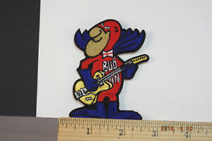 """BUDWEISER Rock&Roll Guitar BUD MAN BEER EMBROIDERED IRON-ON PATCH 3.5x2.5"""""""