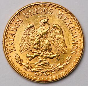 1945-M MEXICO 2 PESOS DOS Pesos Gold Coin WORLD GOLD  Oro puro
