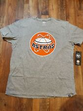 NEW - Men's 2XL HOUSTON ASTROS Astrodome 47 Brand MLB T-Shirt NWT Gray XXL