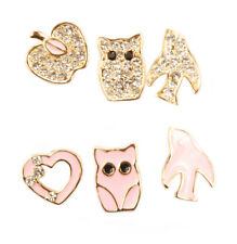 Con Mi Go London E110033 Six highly fashionable character stud earrings