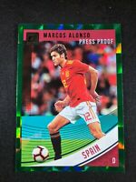 2018-19 Panini Donruss Soccer Marcos Alonso Spain Chelsea #166 Green Press Proof