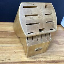 Anolon Wood Cutlery Knife Block Pre-Owned No Knives Included Good Condition