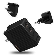 "USB Wall Charger Plug Fast 4Port US UK UE Travel Adapter Converter PISEN 3oz2.5"""