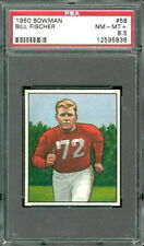 1950 Bowman #58 Bill Fischer PSA 8.5 Chicago Cardinals highest graded -