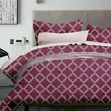5 Pcs Luxury Geometric Red soft Bedding Comforter Set Bed In A Bag, Queen Size