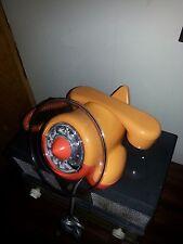 Vintage Orange Airplane Rotary Telephone