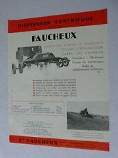 prospectus : disperseur centrifuge FAUCHEUX