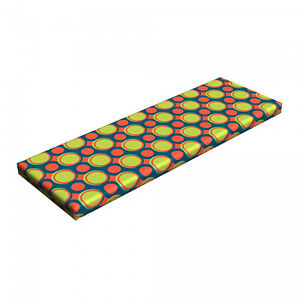 """Ambesonne Retro Scene Bench Pad HR Foam with Fabric Cover 45"""" x 15"""" x 2"""""""