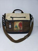 "Women's Sherpani Eden Crossbody Messenger Bag Brown Tan Bird 15"" Laptop Bag"