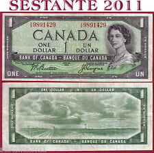 CANADA - 1 DOLLAR 1954  -  Serie VA  -  Sign Beattie & Coyne -  P 74a -  BB / VF