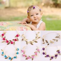 Kids Girls Baby Headband Toddler Rose Flower Wedding Party Hair Band Accessories