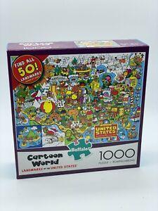 Buffalo Jigsaw Puzzle Cartoon World Landmarks of The United States 1000 Piece