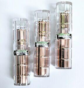 (3X) L'Oreal Paris Colour Riche Plump & Shine Lipstick 103 Lychee Plump 0.1 oz