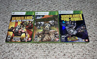 Borderlands 1 Game of the Year, 2, & Pre-Sequel Xbox 360 Lot Bundle