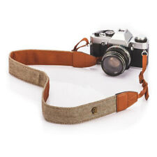 Camera Strap Eorefo Handmade Soft Cotton Vintage Camera Neck Shoulder Strap for Mirrorless and DSLR Camera,Green.