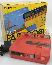 TWIN FAMICOM Console System Boxed AN-500R Red Tested 494215 New Rubber Belt
