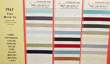 1967 FORD MUSTANG GALAXIE MERCURY COUGAR LINCOLN FAIRLANE LTD 67 PAINT CHIPS SW4
