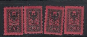 ALBANIA Postage Dues MNH set