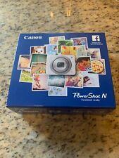 Canon PowerShot N 12.1MP Digital Camera - White - Good condition